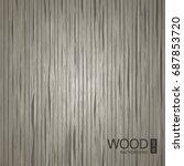 vector dark wooden texture.... | Shutterstock .eps vector #687853720