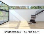 modern bright living room ...   Shutterstock . vector #687855274