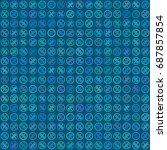 percent seamless business... | Shutterstock .eps vector #687857854