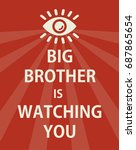 poster big brother is watching... | Shutterstock .eps vector #687865654