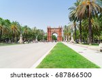 passeig de luis companys and... | Shutterstock . vector #687866500