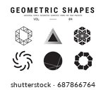 geometric shapes set. universal ... | Shutterstock .eps vector #687866764