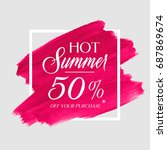 hot summer sale 50  off sign... | Shutterstock .eps vector #687869674