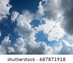 blue sky and  the rays of the... | Shutterstock . vector #687871918