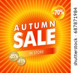 hot red autumn rays sale... | Shutterstock .eps vector #687871984