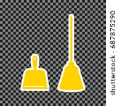 dustpan vector sign. scoop for... | Shutterstock .eps vector #687875290