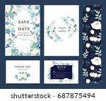 wedding invitation card... | Shutterstock .eps vector #687875494