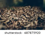 soft focus dry leaves... | Shutterstock . vector #687875920