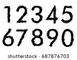 set of grunge numbers.vector... | Shutterstock .eps vector #687876703