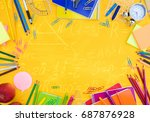 back to school or office styed... | Shutterstock . vector #687876928
