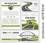 road safety construction... | Shutterstock .eps vector #687878140