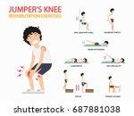 jumper's knee rehabilitation... | Shutterstock .eps vector #687881038