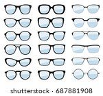 a set of glasses isolated.... | Shutterstock .eps vector #687881908