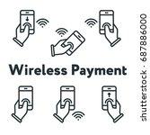 phone in hand finger tap... | Shutterstock .eps vector #687886000