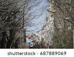 the view of some street in... | Shutterstock . vector #687889069