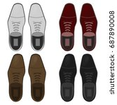 top view shoes flat vector