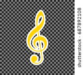 music violin clef sign. g clef. ... | Shutterstock .eps vector #687892108