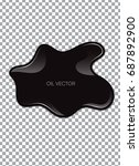 realistic black oil isolated on ... | Shutterstock .eps vector #687892900