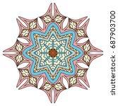mandala flower decoration ... | Shutterstock .eps vector #687903700