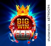 big win slots 777 banner casino.... | Shutterstock .eps vector #687904294