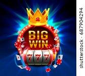 big win slots 777 banner casino.... | Shutterstock .eps vector #687904294