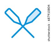 paddle icon | Shutterstock .eps vector #687910804