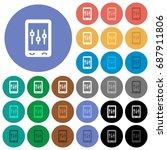 mobile tweaking multi colored... | Shutterstock .eps vector #687911806