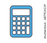 calculator math isolated icon | Shutterstock .eps vector #687914119