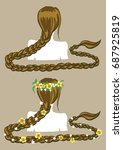 girl with a long braid. girl... | Shutterstock .eps vector #687925819