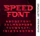 futuristic alphabet vector font.... | Shutterstock .eps vector #687929560