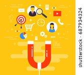 customer retention or loyalty... | Shutterstock .eps vector #687934324