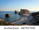 view of aphrodite's rock ... | Shutterstock . vector #687937540