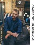 portrait of handsome caucasian... | Shutterstock . vector #687938980