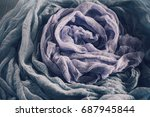 blue grey and purple gauze... | Shutterstock . vector #687945844