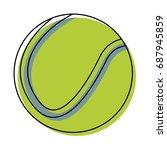 sport tennis ball equipment... | Shutterstock .eps vector #687945859