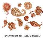 A Set Of Paisley Pattern ...