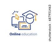 educational resources vector... | Shutterstock .eps vector #687951463