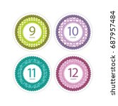 stickers with the months of the ... | Shutterstock .eps vector #687957484
