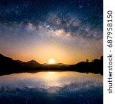beautiful landscape mountains...   Shutterstock . vector #687958150