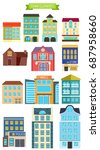 town elements.  flat... | Shutterstock . vector #687958660