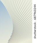 white stripe architectural... | Shutterstock . vector #687963244