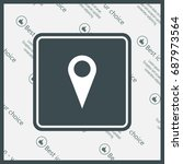 map pointer   vector icon  flat ...   Shutterstock .eps vector #687973564