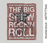 music rock festival typography  ...   Shutterstock .eps vector #687977566