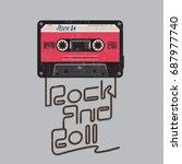 cassette audio music... | Shutterstock .eps vector #687977740