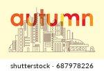 line art of skyscrapers in the... | Shutterstock .eps vector #687978226