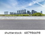 panoramic skyline and buildings ... | Shutterstock . vector #687986698
