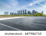 panoramic skyline and buildings ... | Shutterstock . vector #687986710