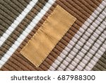 blank textile clothes label on... | Shutterstock . vector #687988300