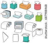 vector set of tissue paper | Shutterstock .eps vector #687988468