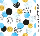 seamless dotted pattern with... | Shutterstock .eps vector #687991063